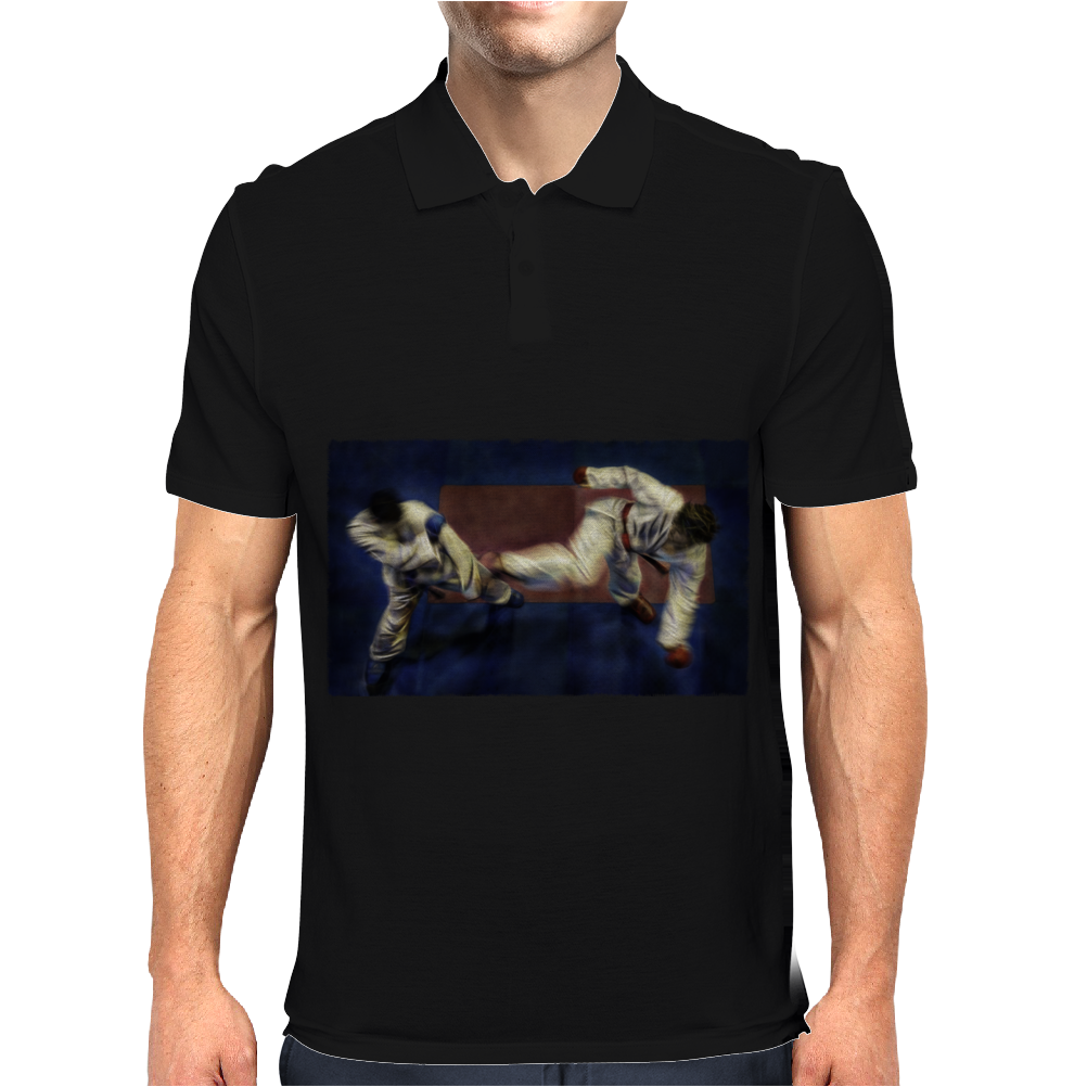 Karate kick Mens Polo