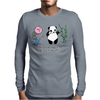 Karl Pilkington, I Will Kick A Panda Quote Mens Long Sleeve T-Shirt