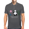 Karl Pilkington, I Will Kick A Panda Quote Mens Polo