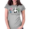 Karl Pilkington, I Will Kick A Panda Quote Womens Fitted T-Shirt