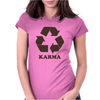 Karma Recycle Womens Fitted T-Shirt