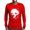 Kawaii Panda Anime Mens Long Sleeve T-Shirt