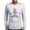 Keep Calm 0 fucks were given. Mens Long Sleeve T-Shirt