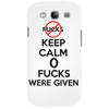 Keep Calm 0 fucks were given. Phone Case