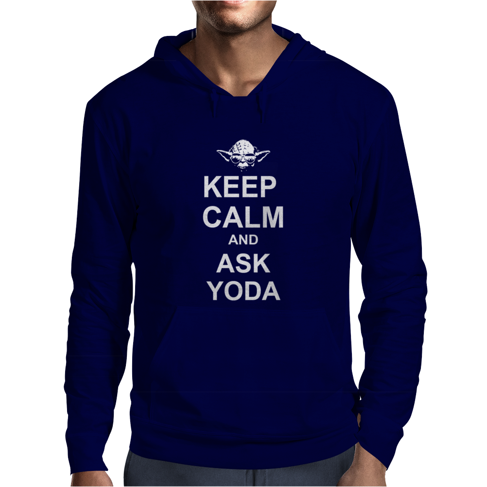 Keep Calm And Ask Yoda Star Wars Mens Hoodie
