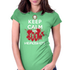 KEEP CALM AND BOOM HEADSHOT Womens Fitted T-Shirt