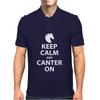 Keep Calm and Canter On Mens Polo