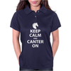 Keep Calm and Canter On Womens Polo