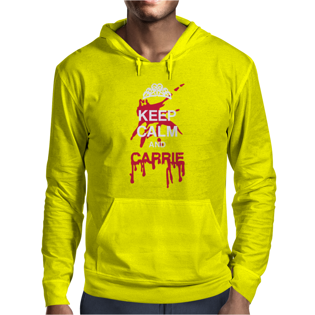 Keep calm and Carrie Mens Hoodie