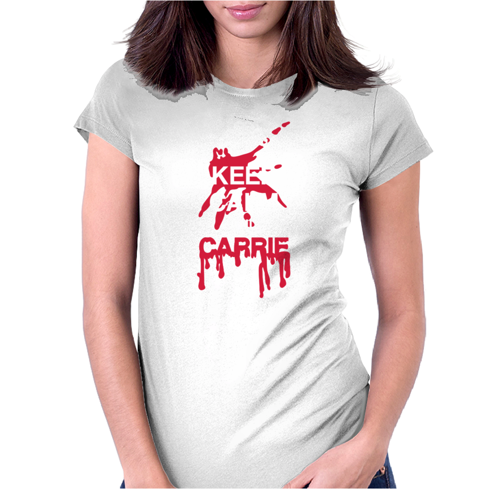 Keep calm and Carrie Womens Fitted T-Shirt