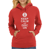 KEEP CALM AND DISC GOLF ON TARGET FRISBEE BASKET Womens Hoodie