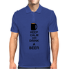 Keep calm and drink a beer Mens Polo