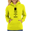 Keep calm and drink a beer Womens Hoodie