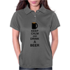 Keep calm and drink a beer Womens Polo