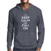 Keep Calm And Fish On Mens Hoodie