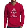 Keep Calm and Fly Planes Mens Hoodie