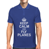 Keep Calm and Fly Planes Mens Polo