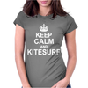 Keep Calm and KiteSurf Womens Fitted T-Shirt