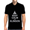 Keep Calm and Klingon Mens Polo