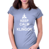 Keep Calm and Klingon Womens Fitted T-Shirt