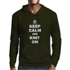 Keep Calm And Knit On Mens Hoodie