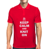 Keep Calm And Knit On Mens Polo