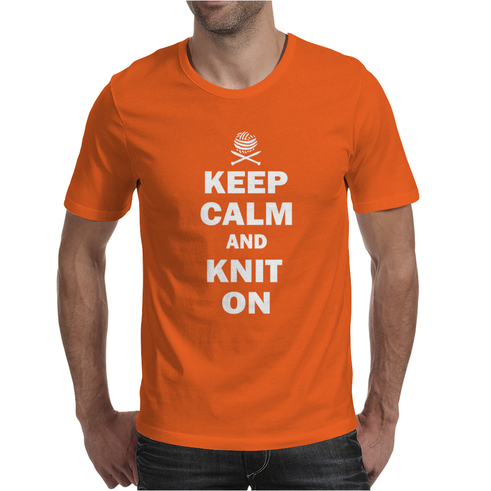 Keep Calm And Knit On Mens T-Shirt