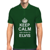 Keep Calm and Listen to Elvis Mens Polo