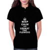 Keep Calm and Look At The Flowers Womens Polo