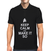 Keep Calm and Make it so Mens Polo