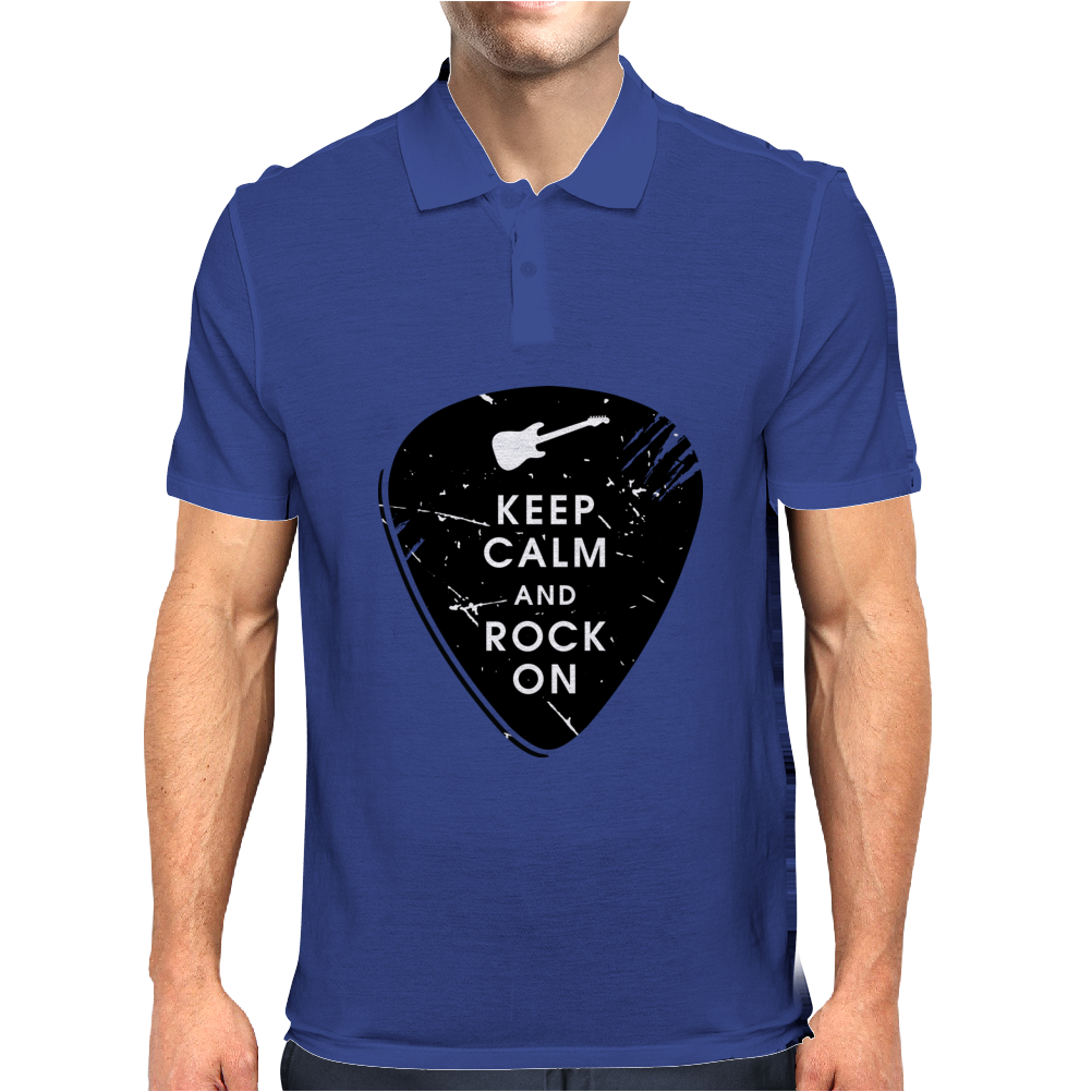 Keep calm and rock on Mens Polo