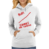 Keep Calm and Run Zombies Are Coming Womens Hoodie