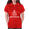 Keep Calm and Walk the Greyhound Womens Polo