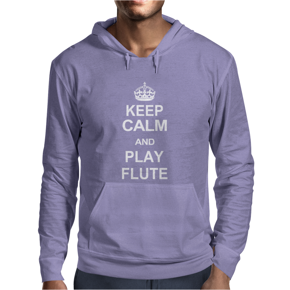 Keep Calm Play Flute Mens Hoodie