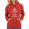 Keep Calm Play Flute Womens Hoodie