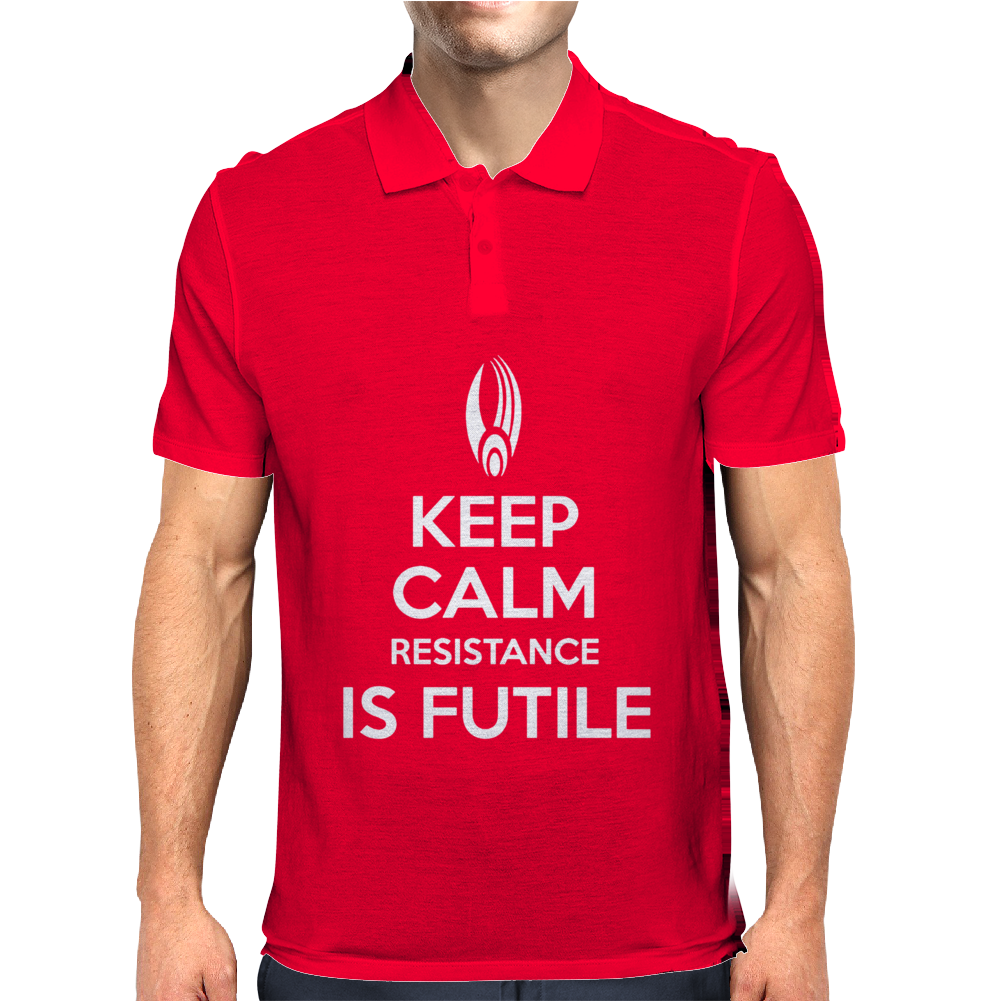 Keep Calm Resistance is Futile Mens Polo