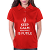 Keep Calm Resistance is Futile Womens Polo