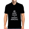 Keep Calm & Shoot Arrows Mens Polo