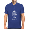 Keep Calm & Sky Dive Mens Polo