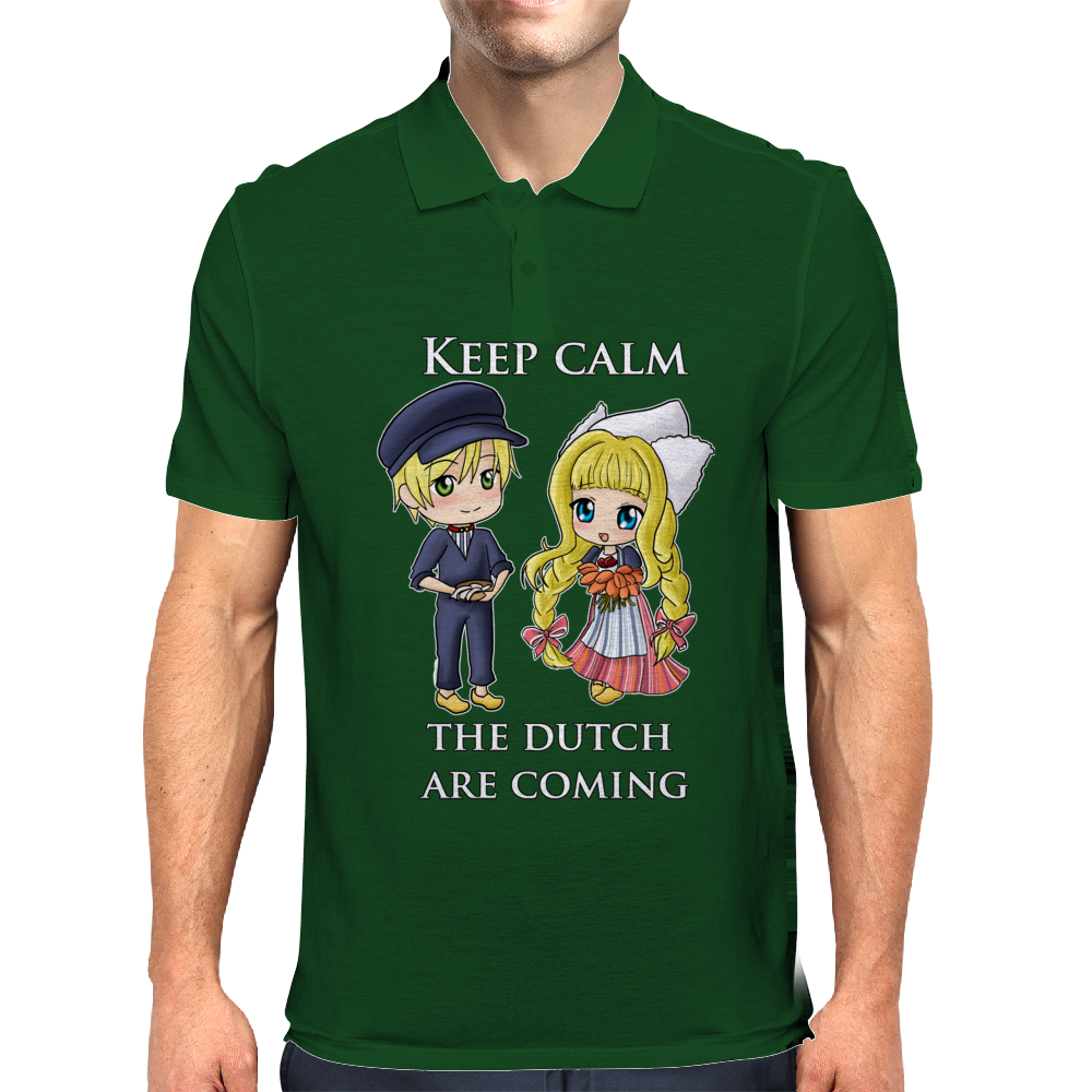 Keep calm the dutch are coming Mens Polo