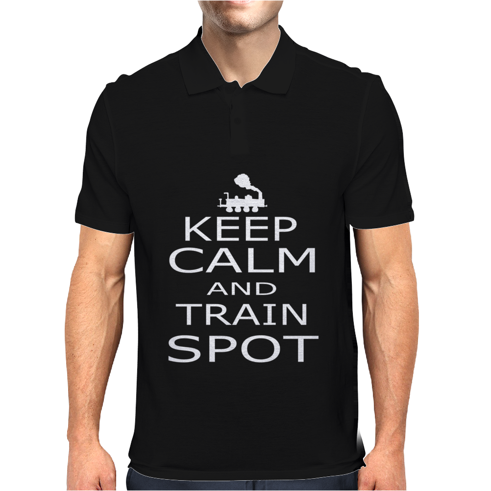 KEEP CALM TRAIN Mens Polo