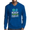 Keep Earth Clean It's Not Uranus Kawaii Planets Mens Hoodie