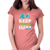 Keep Earth Clean It's Not Uranus Kawaii Planets Womens Fitted T-Shirt