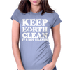 Keep Earth Clean It's Not Uranus Womens Fitted T-Shirt