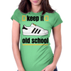 KEEP IT OLD SCHOOL RETRO HIP HIP BREAK DANCE B-BOY 1980's SUPERSTAR TRAINERS Womens Fitted T-Shirt