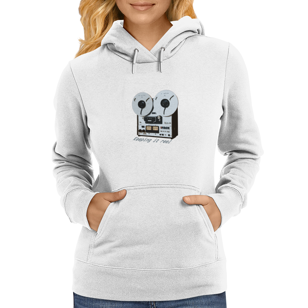 Keeping It Reel (to reel) Womens Hoodie