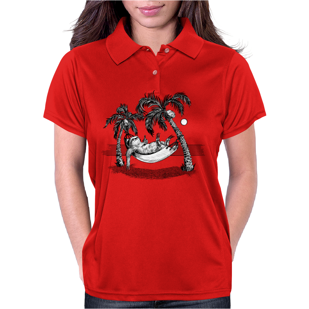 Kelly Groen Sloth Womens Polo