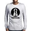 Keyhole Voyeur Mens Long Sleeve T-Shirt