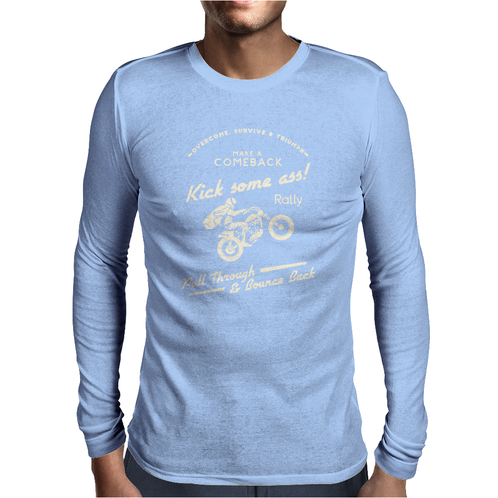 Kick Some Ass Mens Long Sleeve T-Shirt