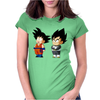 Kid Goku and Kid Vegeta Womens Fitted T-Shirt